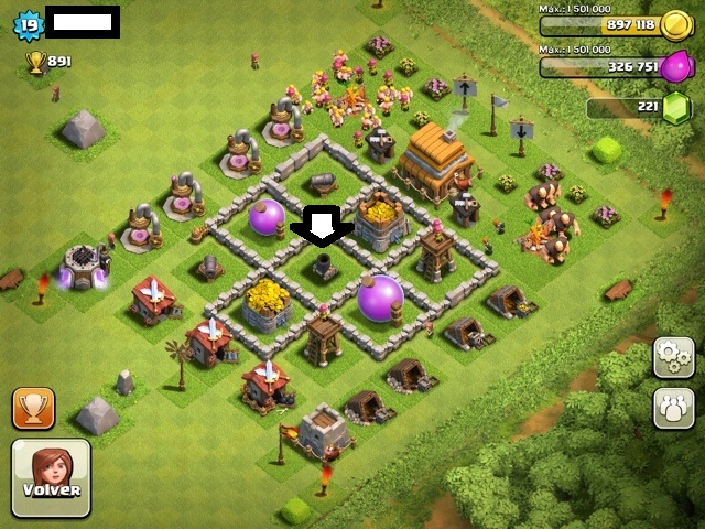 colocar el mortero clash of clans