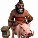 Figura Montapuercos Clash of Clans