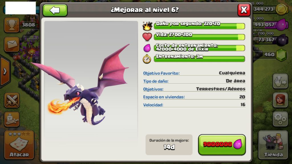 dragon nivel 6